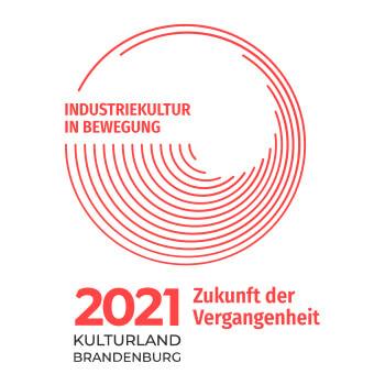 Logo Kulturland Brandenburg 2021 - Zukunft der Vergangenheit