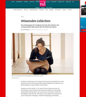 Neues Deutschland – Wissendes Gelächter