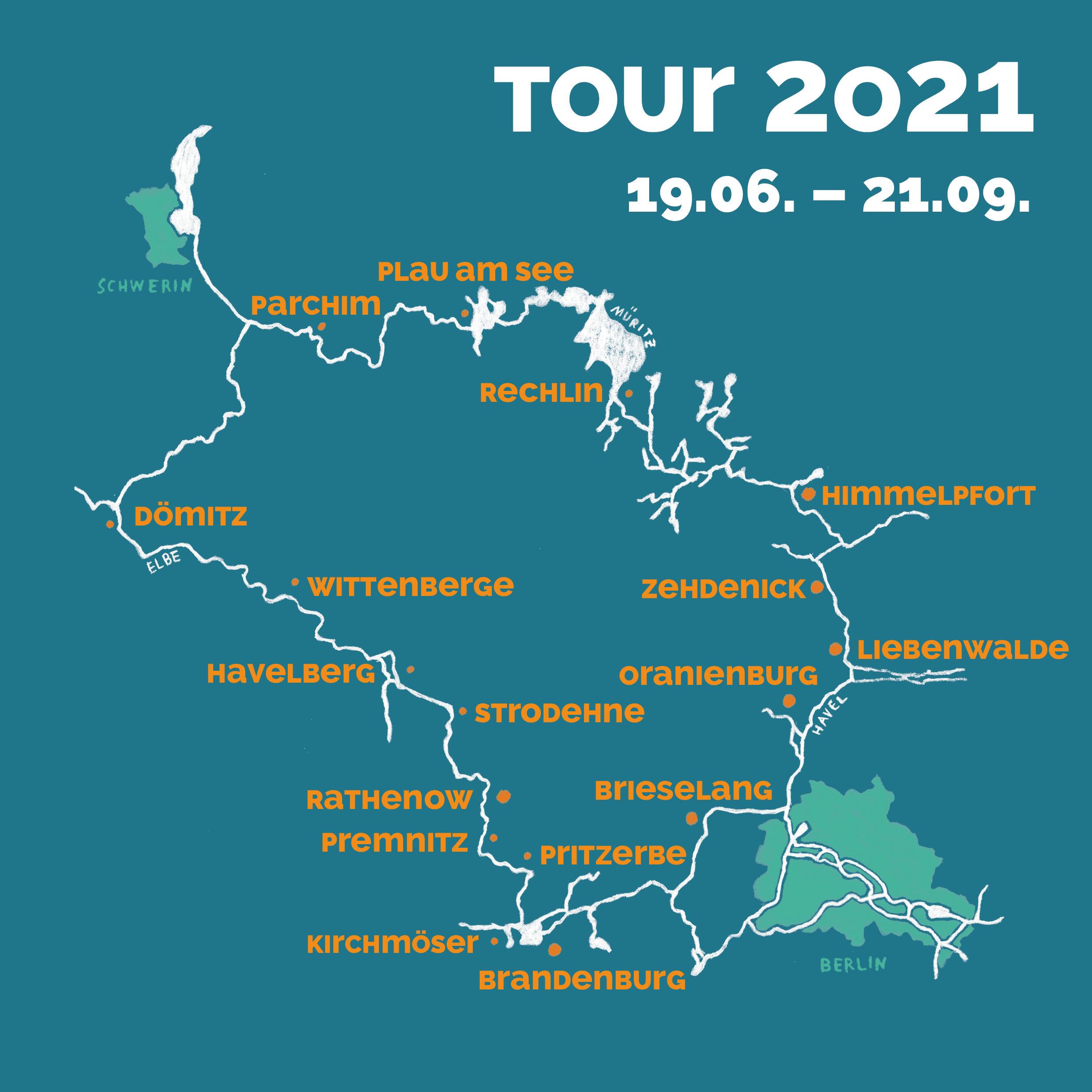 Karte zur Tour 2021